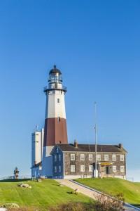 """Der Leuchtturm markiert """"das Ende"""" der Hamptons im Osten."""